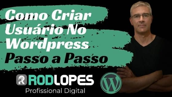 como criar usuário no wordpress